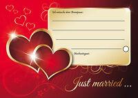 35 stilvolle Ballonflugkarten / Luftballon Karten für die Hochzeit, Set 12