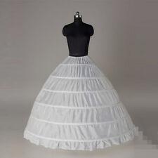 Hot Sale 6 Hoops Bridal Petticoats White Wedding Petticoat Crinoline Slip