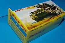 COFFRET VIDE    MILITAIRE CANON DE 155 AUTOMOTEUR  DINKY TOYS ref  813