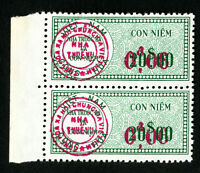 Vietnam Stamps F-VF OG NH Double Surcharge + Overprint Pair