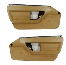 84 85 86 87 Corvette C4 Standard Door Panels - Pair in SADDLE