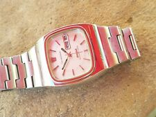EB0: RARE OMEGA MENS WATCH MEGAQUARTZ EARLY ELECTRONIC DAY DATE SUPER CLEAN 2fix