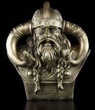 Odin Bust Medium S2 - Decorative Figurine Viking God Asen Helmet Horns Warrior