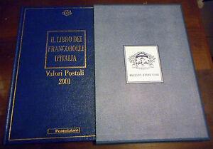 """LIBRO DEI FRANCOBOLLI """"BUCA DELLE LETTERE"""" Valori Postali Anno 2001 Leggere"""