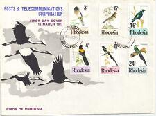 Rhodesia  1977 Birds of Rhodesia FDC.Sinoia
