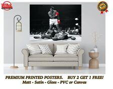 Muhammad Ali Vs Sonny Liston Boxing Large Poster Art Print Gift A0 A1 A2 A3 Maxi