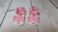 "Pink Jelly Sandals with Cute Straps fit American Girl Dolls or Other 18"" Dolls"