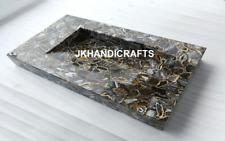Black Agate Stone Sink / Wash Basin Gemstone Inlay Art Kitchen  Decor Arts