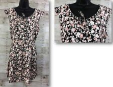 Keyhole Frill Tunic Harmony Floral Summer Dress Size 16 Junior's Plus Size