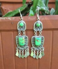 Ohrring orientalischer Stil Türkis Kupfertürkis grün Sterling Silber 925