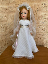"14"" Vintage Beautiful Hard Plastic Mary Hoyer Lal Bride Doll with Sleep Eyes"