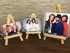 More details for the bee gees through the years 3 piece coaster jumbo magnet and keyring gift set