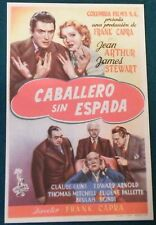 Mr Smith Goes to Washington (1939) Stewart Original Movie Poster Spanish Herald