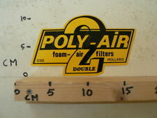 STICKER,DECAL POLY-AIR 2 DOUBLE FOAM AIR FILTERS OSS HOLLAND LARGE NOT 100% OK C