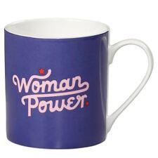New Wild & Wolf Yes Studio Woman Power Blue Bone China Mug Gift Boxed Coffee Cup