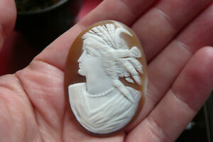 Victorian Carved Loose Shell Cameo