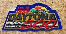 "Vintage Daytona 500 Nascar Cloth Patch Feb 19 1995 5"" X 2.5"""