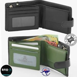 Men's Wallet Genuine Leather Large Wallet 4 cards Zipped Coin Notes New Multi