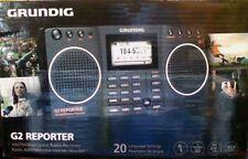 NEW Grundig G2 AM/FM/Shortwave Radio  Recorder - Black NG2B