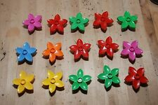 Lot of 15 Duplo Flowers Accessories Assorted Colors Flower