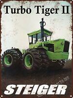 "Steiger Turbo Tiger II 2 Tractor Farming Garage Man Cave Metal Sign 9x12"" A182"