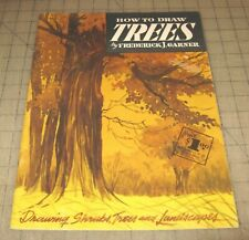 Vintage HOW TO DRAW TREES By FJ Garner - Walter T. Foster Art Instruction Book