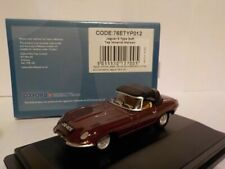 Jaguar E-Type, Soft top, Maroon, Oxford Diecast 1/76 New Dublo, Railway Scale
