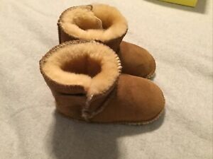 Minnetonka Baby/toddler Brown Slip On Leather Moccasin Boots, Size 4