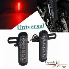 Motorcycle LED Auxiliary Brake Light License Plate Lamp Mount Bracket For Harley