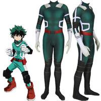 My Hero Academia Izuku Midoriya Cosplay Costume Bodysuit Suit Jumpsuits Wig