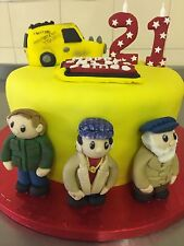 Only Fools And Horses Edible Cake Topper Del Boy  Grandad .Rod Van . Name Plaque