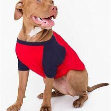 New listing American Apparel Dog T-Shirt Red Blue Size Medium M Raglan Two-Tone $22 940