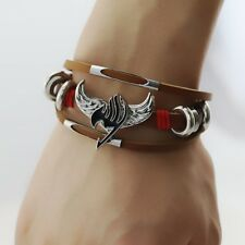 Fairy Tail Logo Bracelet Natsu Dragnee Happy Lucy Heartfilia Gray Necklace HGFHG