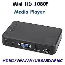 HOT HDD Media Player VGA FULL 1080P HDMI SD USB MKV FLV RM RMVB Movies Photo
