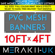 10ft x 4ft MESH PVC PERSONALISED Banner Outdoor Vinyl Advertising Sign