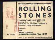 ROLLING STONES REPRO 1970 AMSTERDAM AMSTELHAL 9 OCT CONCERT TOUR TICKET . NOT CD