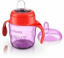 Philips Avent Baby Travel Kid Drinking Cup Bottle MIlk Water Easy Sip Cup PInk
