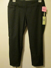 $68 Tangerine Black Capri 3/4 Pants Activewear Yoga Running Stretch Size S NWT