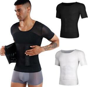 Herren Verstellbar Bauch Gürtel Body Shaper Hemd Kompression Figurformend