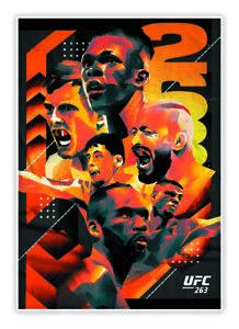 2021 Panini Instant UFC 263 Artist Series #AS263 Adesanya vs Vettori 2 *Presale*
