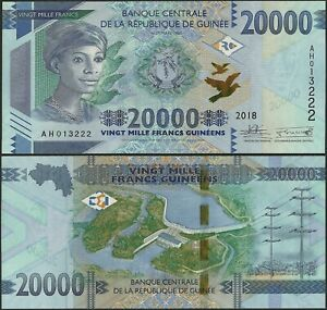 GUINEA PNew B344 20000 FRANCS 2018 UNC @ EBS