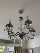 Silver Metal chandelier - 4 bulbs.