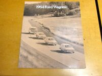 1984 84 FORD ALL STATION WAGONS COLOR DEALER SALES BROCHURE BOOK MANUAL