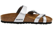 Birkenstock Mayari Birko-flor Womens Shoes Slides Sandals Clogs Silver EU 36 / US L5 Regular