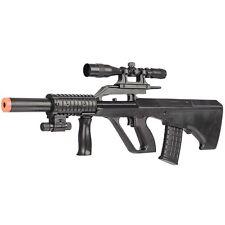 UKARMS STEYR AUG BULLPUP SPRING AIRSOFT RIFLE GUN w/ LASER SCOPE LIGHT 6mm BB