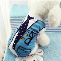 Autumn Summer Dog Cat Clothes Breathable Small Dogs Vest Puppy Pet Dress T-shirt