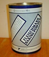 Vintage Fleischmann Baking Powder 10 Pound Tin / Metal Advertising Can w/ Lid C