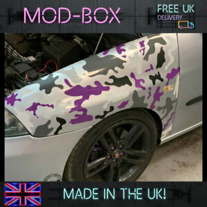 Camouflage Camo single Panel or Roof/Bonnet Car Wrap Vinyl