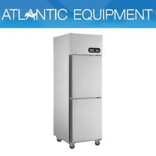 F.E.D. SUC500 2 x 1/2 Doors S/Steel Upright Fridge