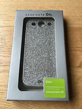Casemate Glam Silver Glitter Hard Plastic Case Cover For Samsung Galaxy S3 S III